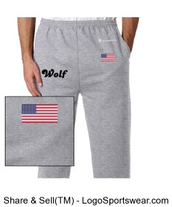 Wolf sweatpants Design Zoom